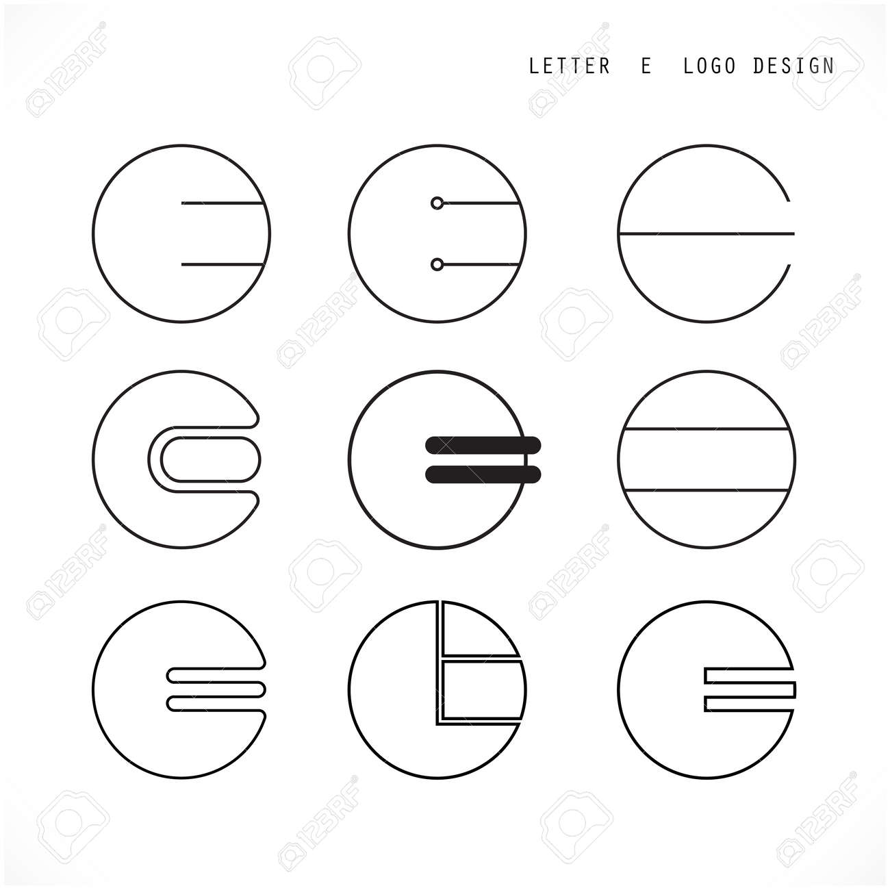 Creative Letter E Icon Abstract Logo Design Vector Template