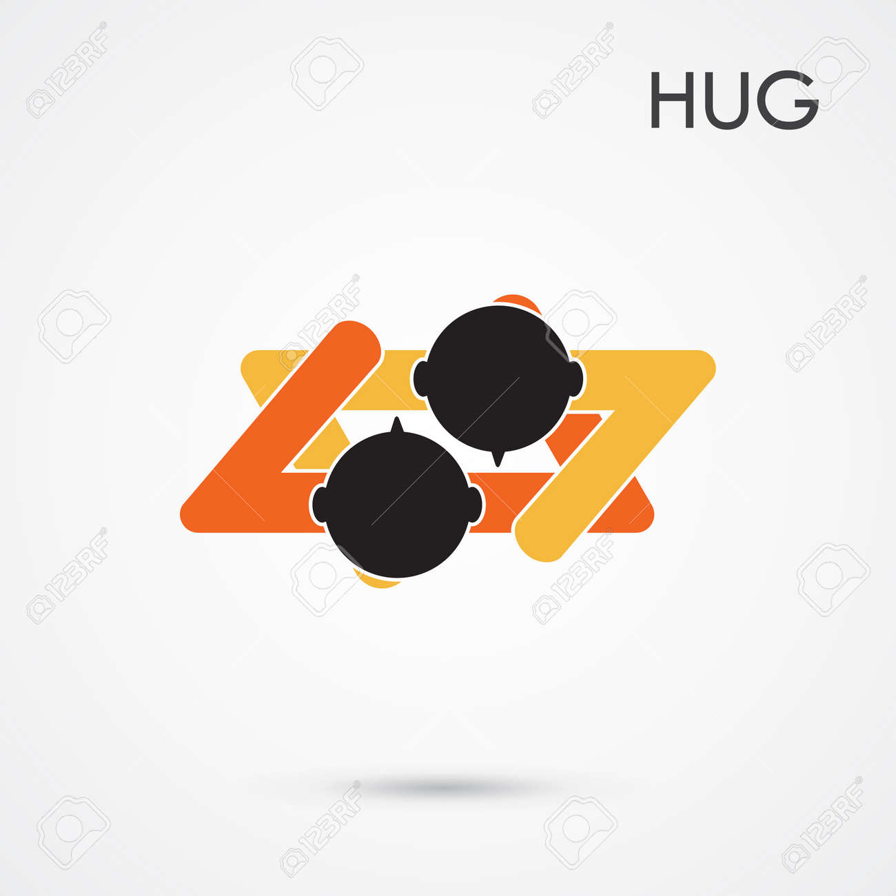 Abstract hug symbol this graphic also represents couple in love abstract hug symbol this graphic also represents couple in love hug and embrace biocorpaavc Gallery