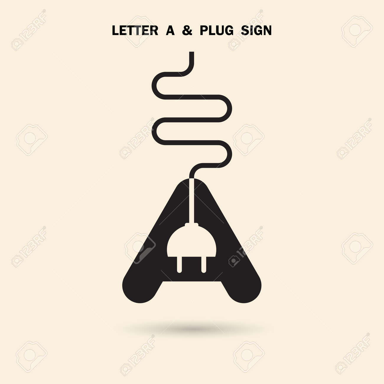 creative letter a icon abstract logo design vector template with