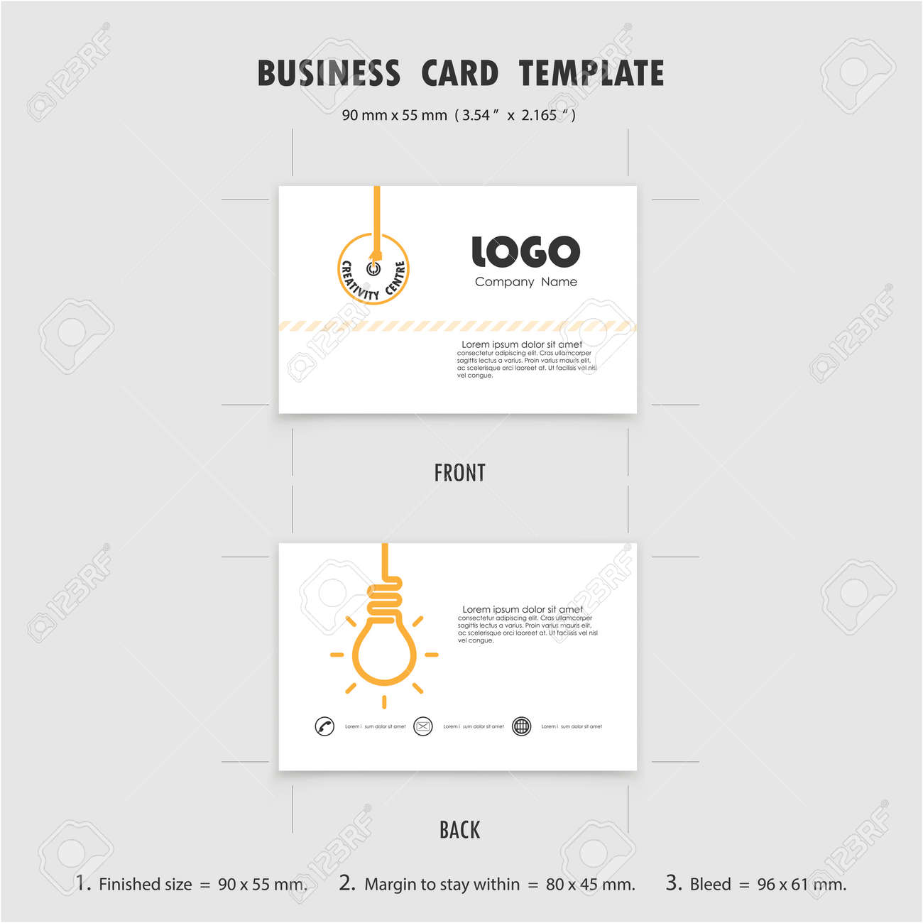 Modele De Conception Abstraite Cartes Visite Creatives Taille