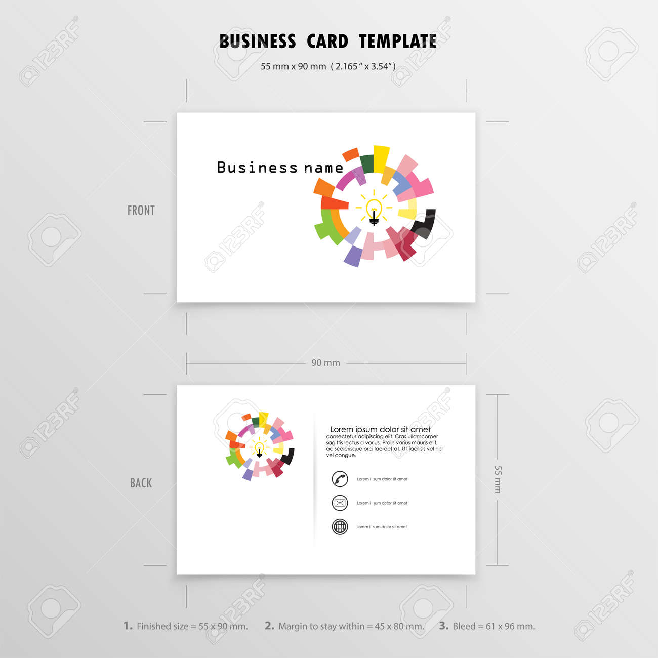Abstract creative business cards design template name cards abstract creative business cards design template name cards symbol size 55 mm x 90 reheart Choice Image