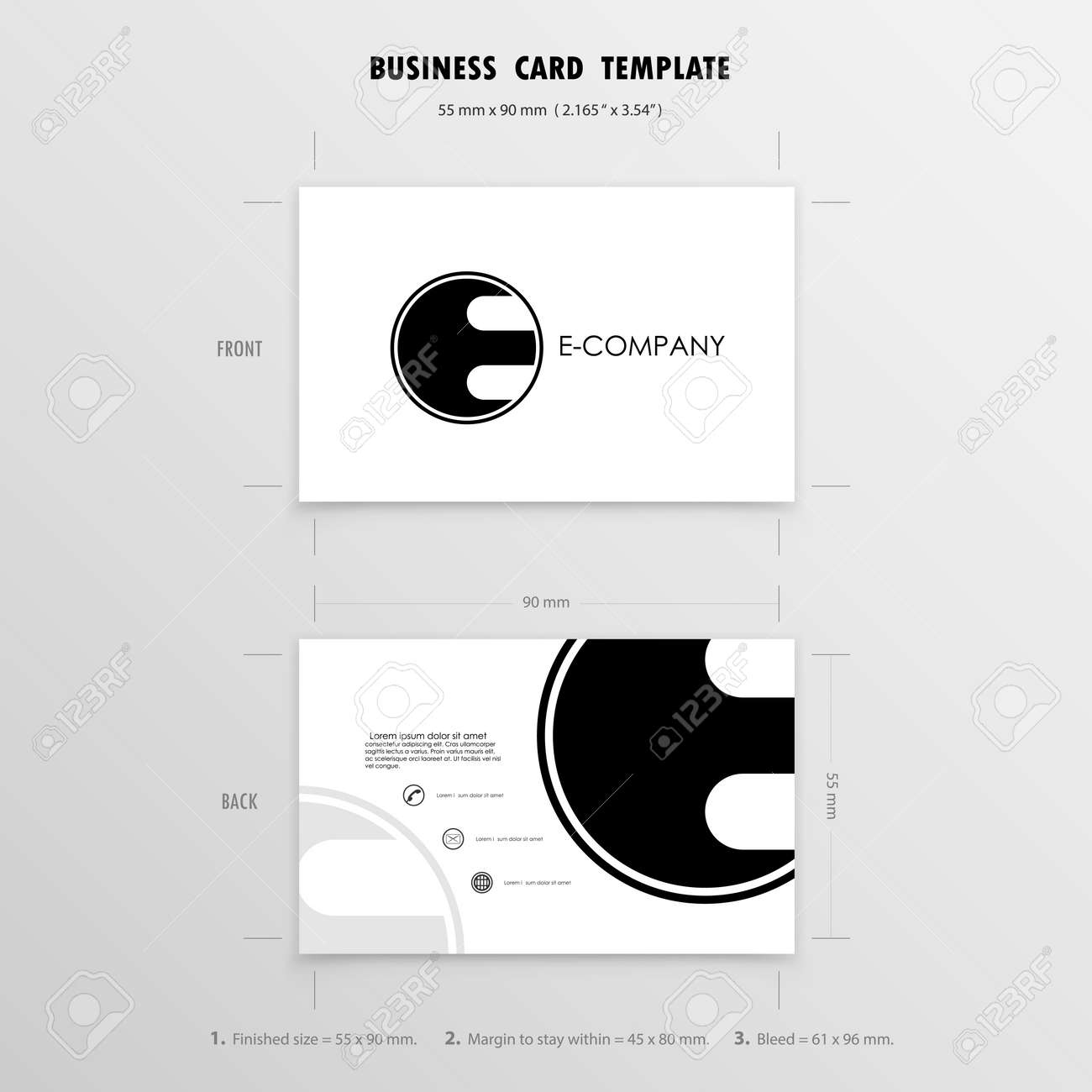 Business cards design template name cards symbol size 55 mm x 90 banco de imagens business cards design template name cards symbol size 55 mm x 90 mm 2165 in x 354 inctor illustration reheart Choice Image