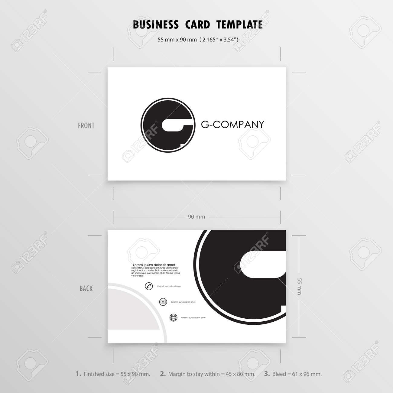 Cartes De Visite Modele Conception Nom Symbole Taille 55