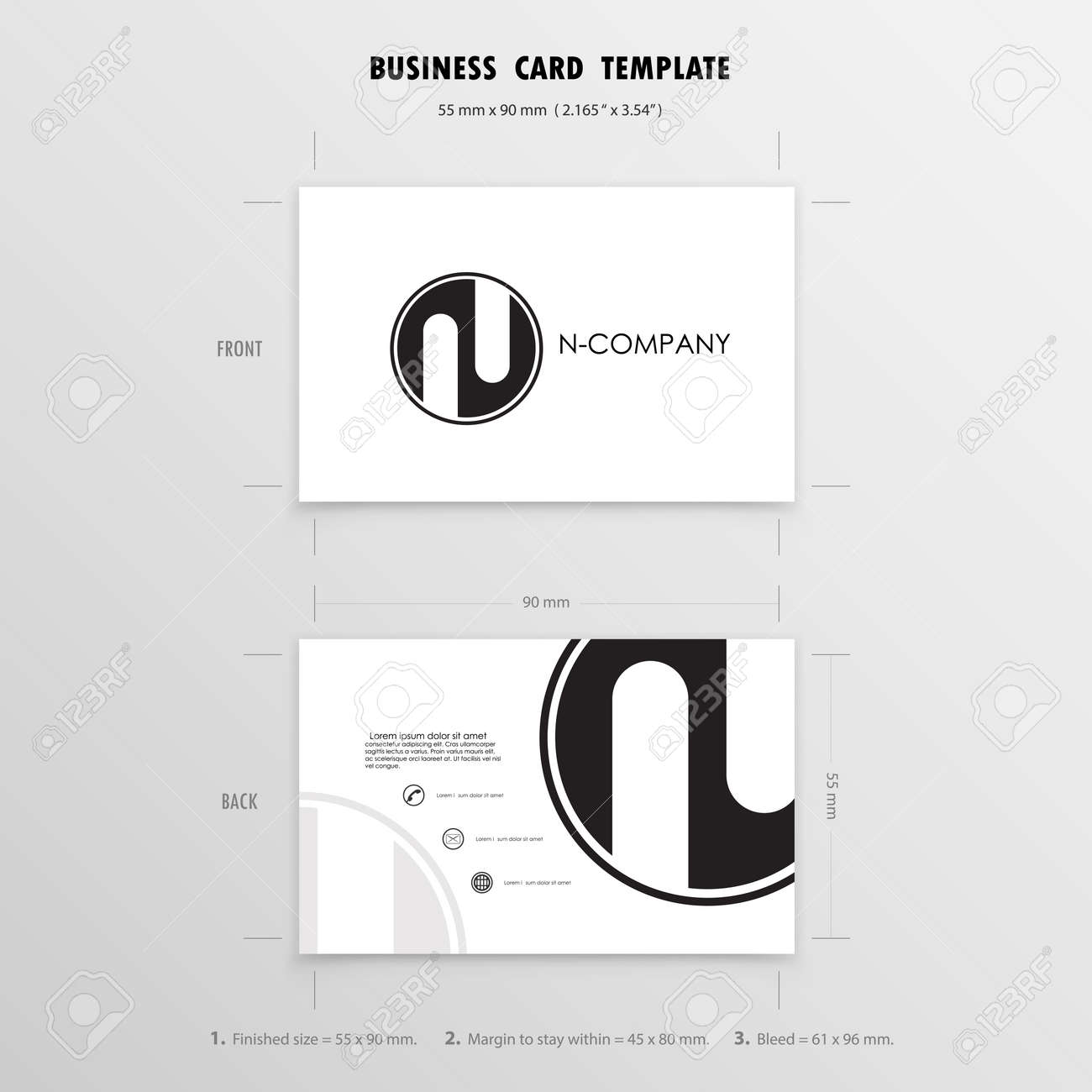 Business cards design template name cards symbol size 55 mm vector illustration business cards design template name cards symbol size 55 mm x 90 mm reheart Image collections