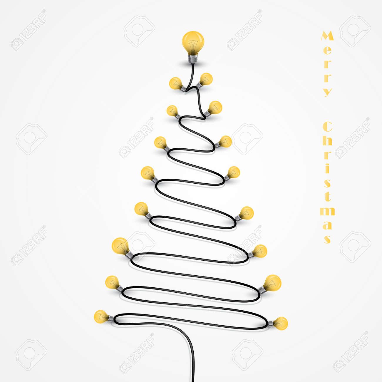 3dd2bdde512 Bombillas de colores y el símbolo del árbol de Navidad .Merry navidad  background.Design