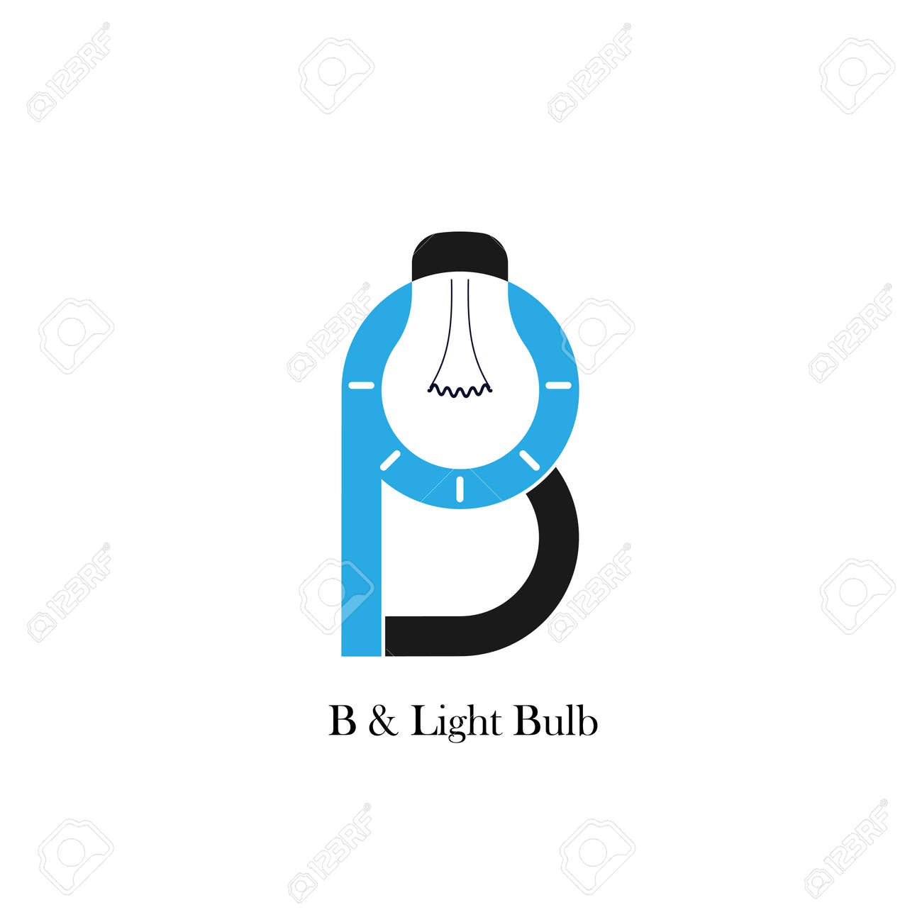 B Letter Alphabet Icon And Light Bulb Abstract Logo Design Vector Royalty Free Cliparts Vectors And Stock Illustration Image 69007807