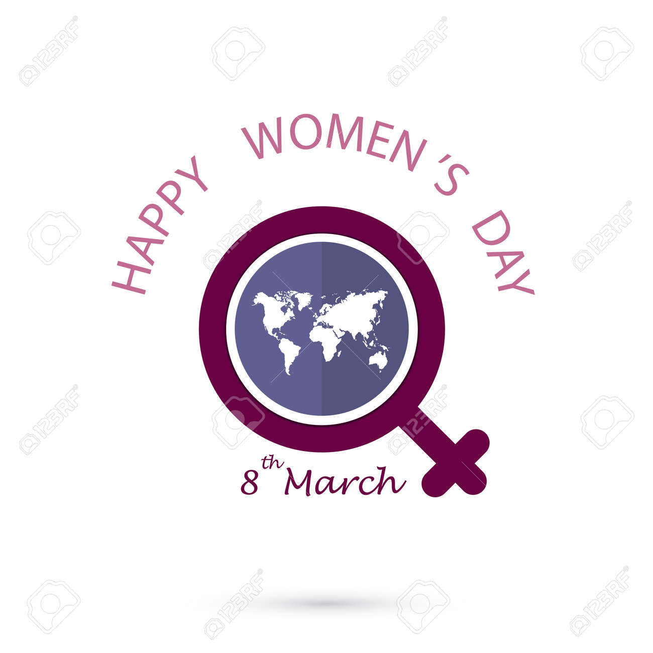 Creative 8 March Logo Vector Design With International Womens
