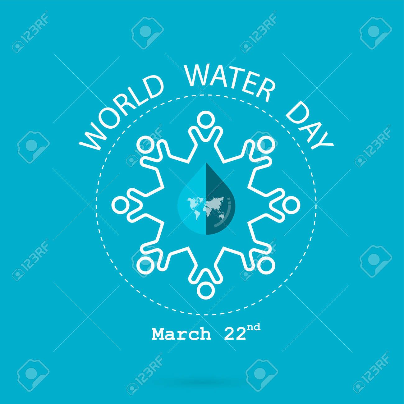 Water drop and world map with people icon vector logo design vector water drop and world map with people icon vector logo design template water day icon water day idea campaign for greeting card and gumiabroncs Gallery
