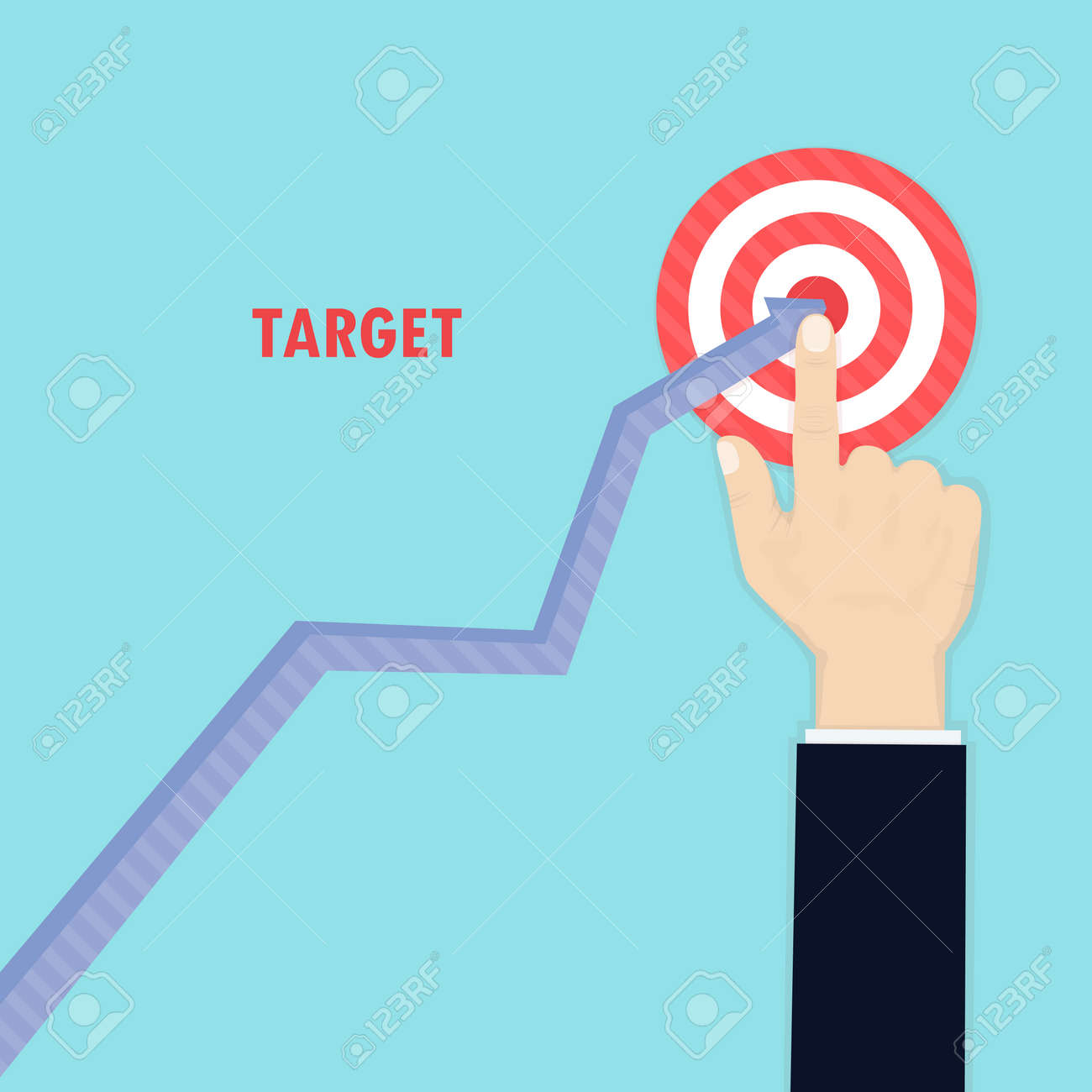 Goal AchievementSuccessful Way Up To GoalAmbition BusinessPath Chart TargetBusinessman Top GraphAspiration VictoryConcept Of The Teamwork For
