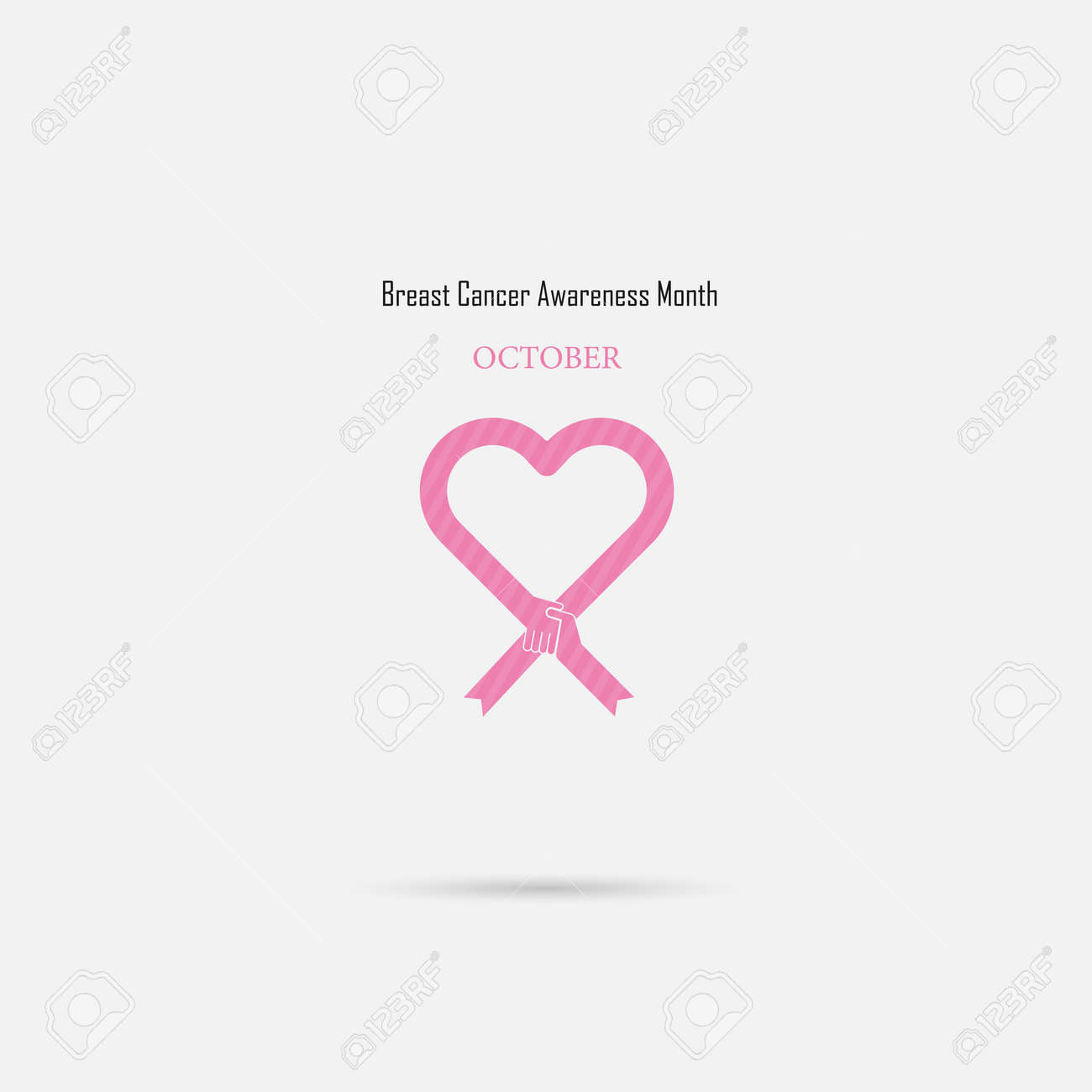 5fd5b336af9 Pink heart ribbon sign.Breast Cancer October Awareness Month..