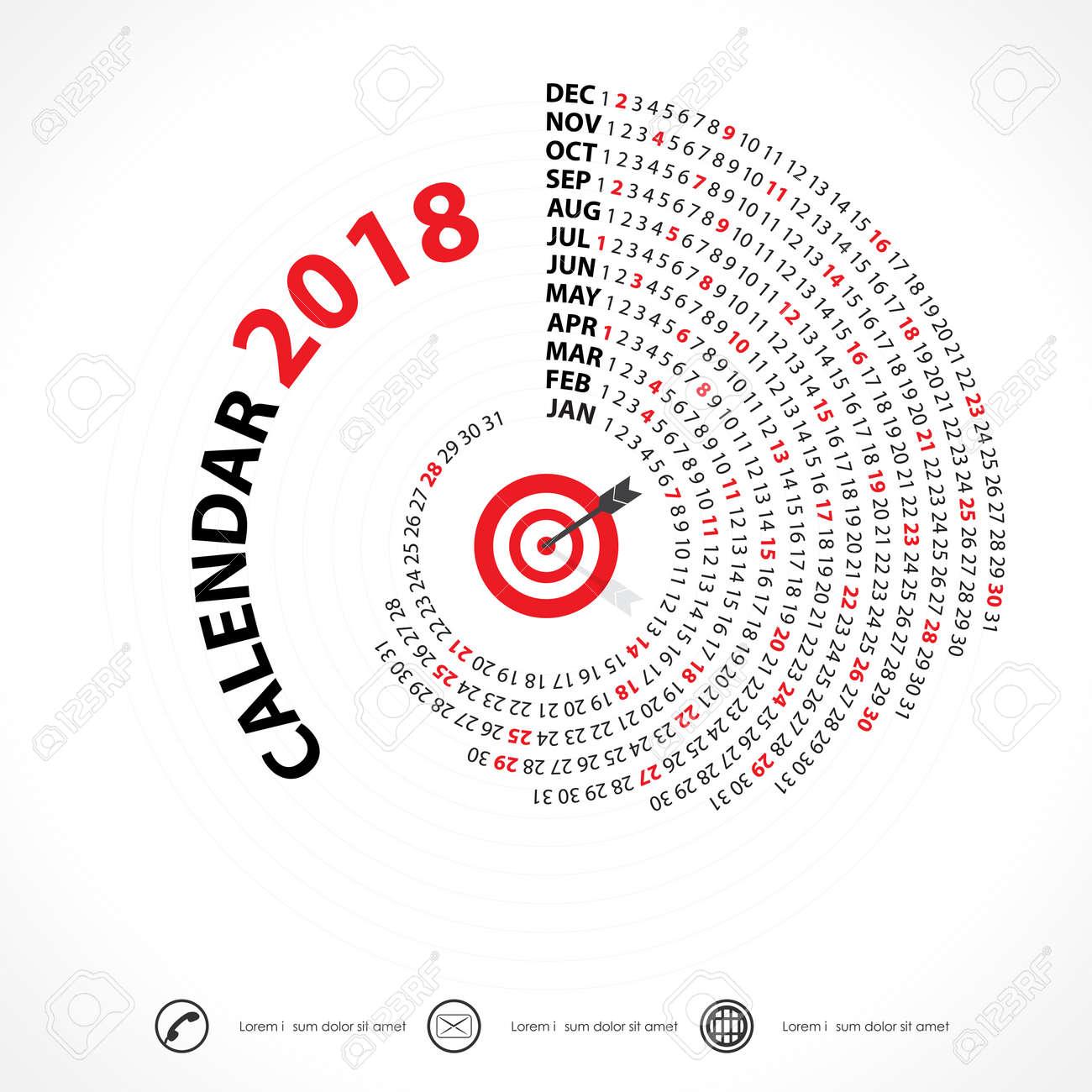 2018 カレンダー template spiral カレンダー カレンダー 2018年セット