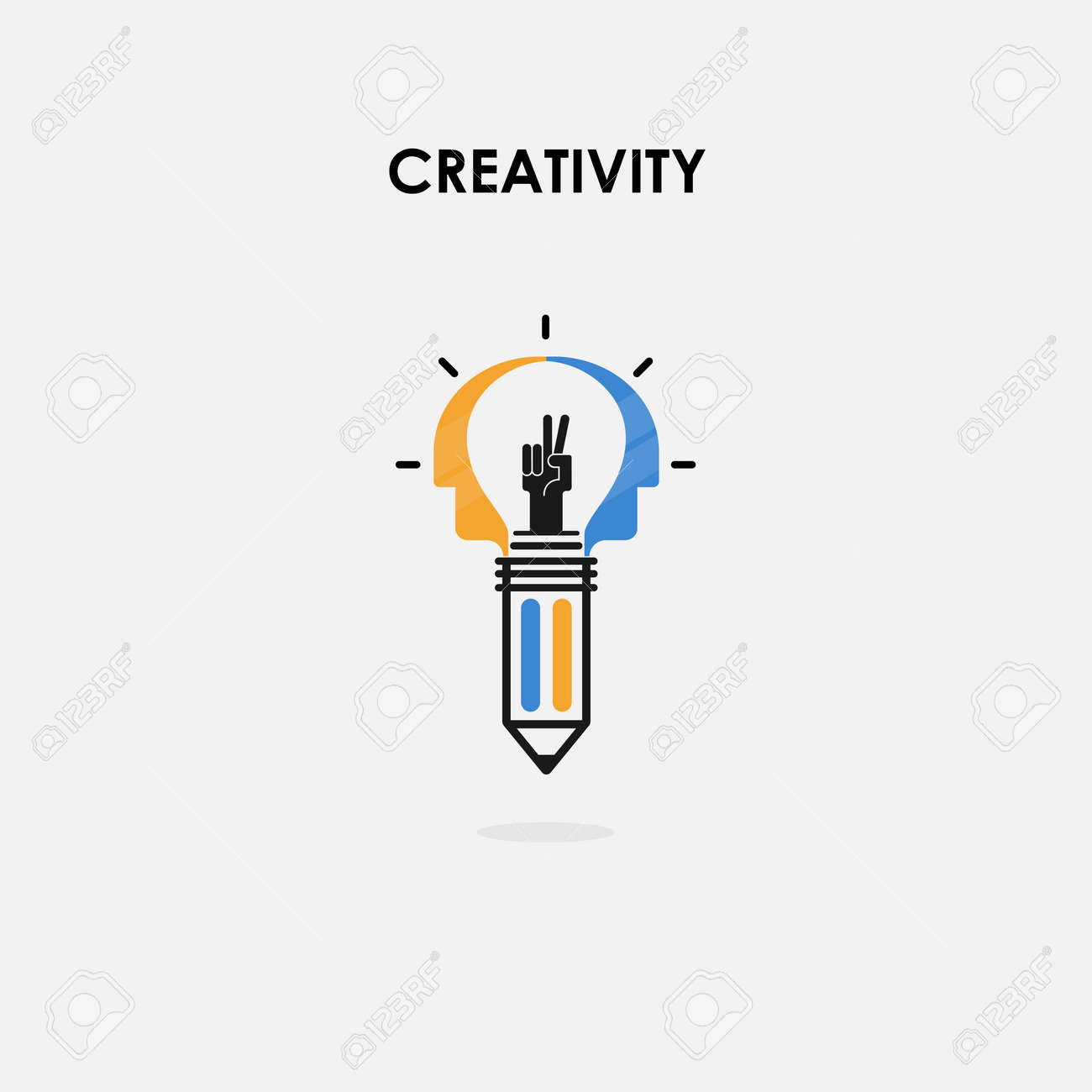 Creative Light Bulb And Success Concept Pencils And Human Heads Royalty Free Cliparts Vectors And Stock Illustration Image 90020297