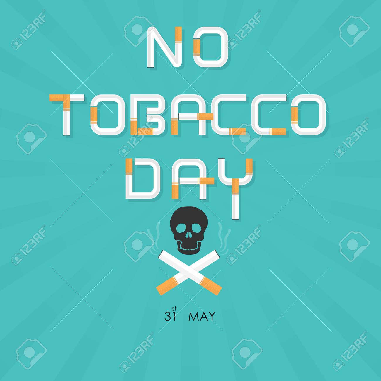 Human Skull And Cigarette Quit Tobacco Vector Logo Design Template
