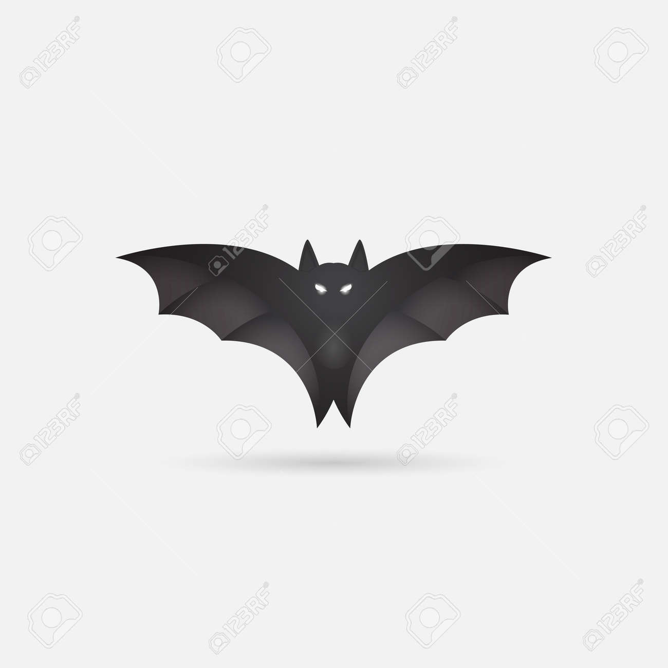 image regarding Printable Halloween Silhouettes referred to as Bat silhouette. Printable template. Bat icon isolated upon Grey.Halloween..