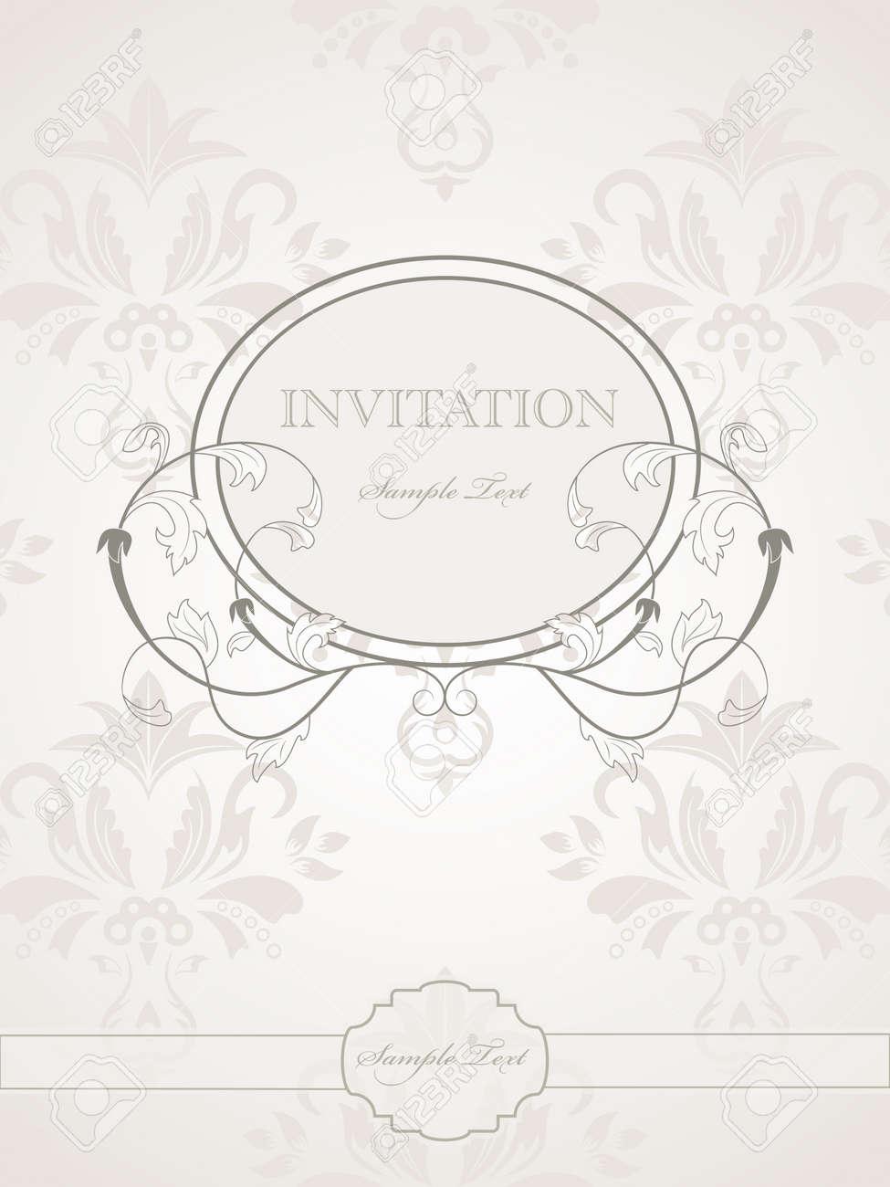 vintage pattern for wedding invitation Stock Vector - 8712920
