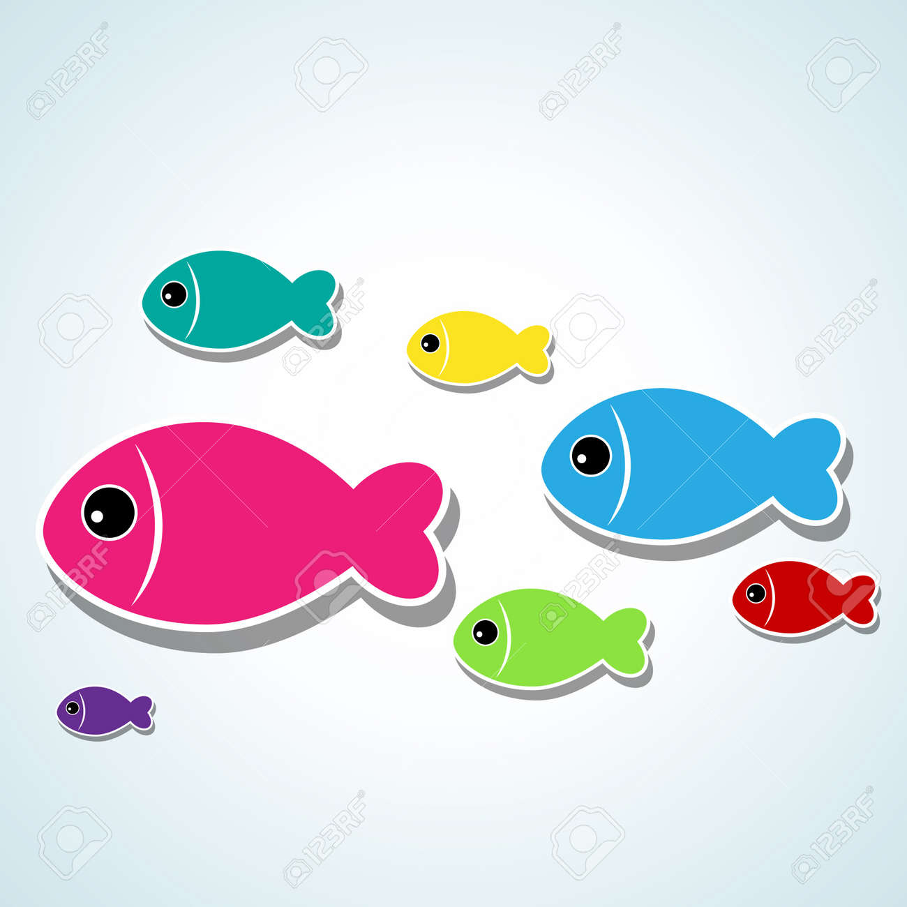 small cute fishes Stock Vector - 9578987