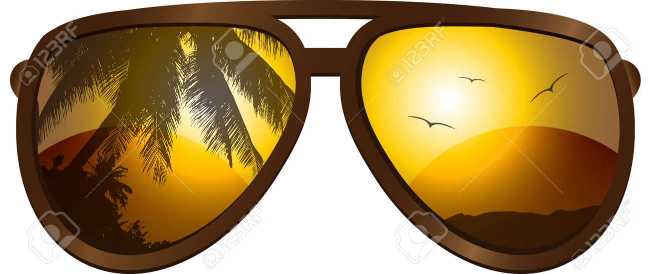 picture with sunglasses Stock Vector - 9879910