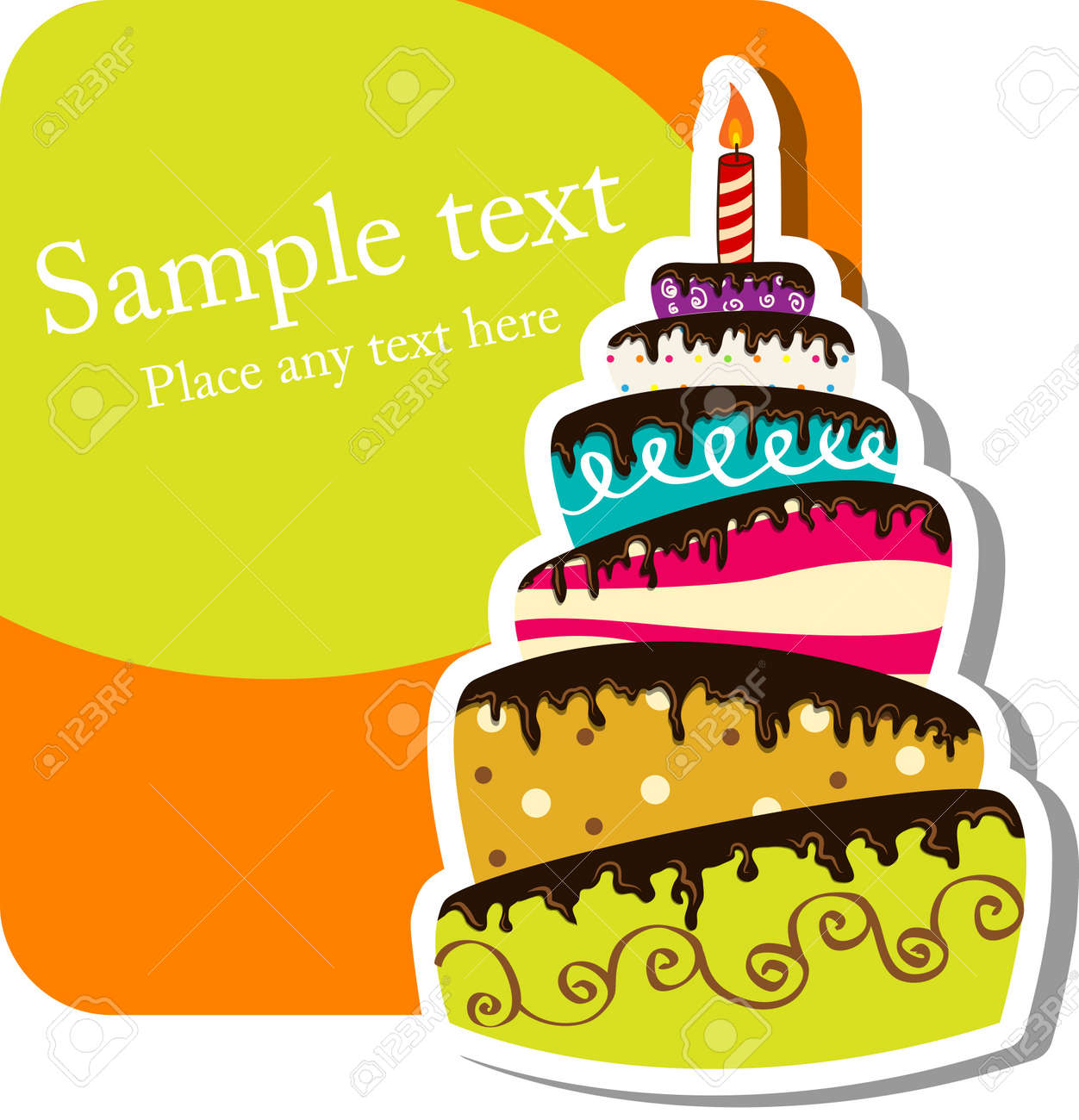 92753 Birthday Cake Cliparts Stock Vector And Royalty Free