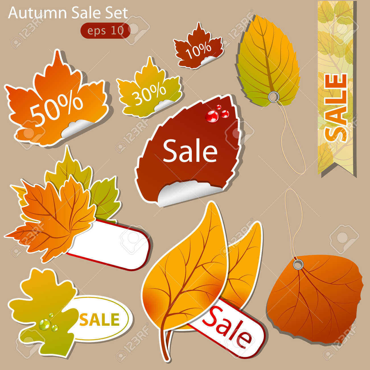pattern of discount. Autumn Stock Vector - 10420341