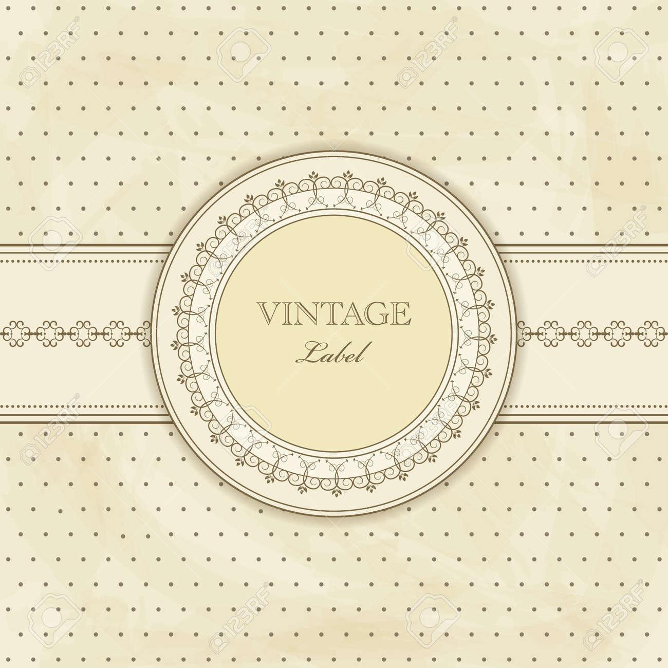 vintage pattern for  invitation Stock Vector - 10616117