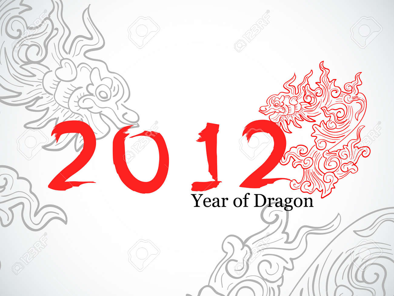 Vector chinese New year greeting card Stock Vector - 11663102