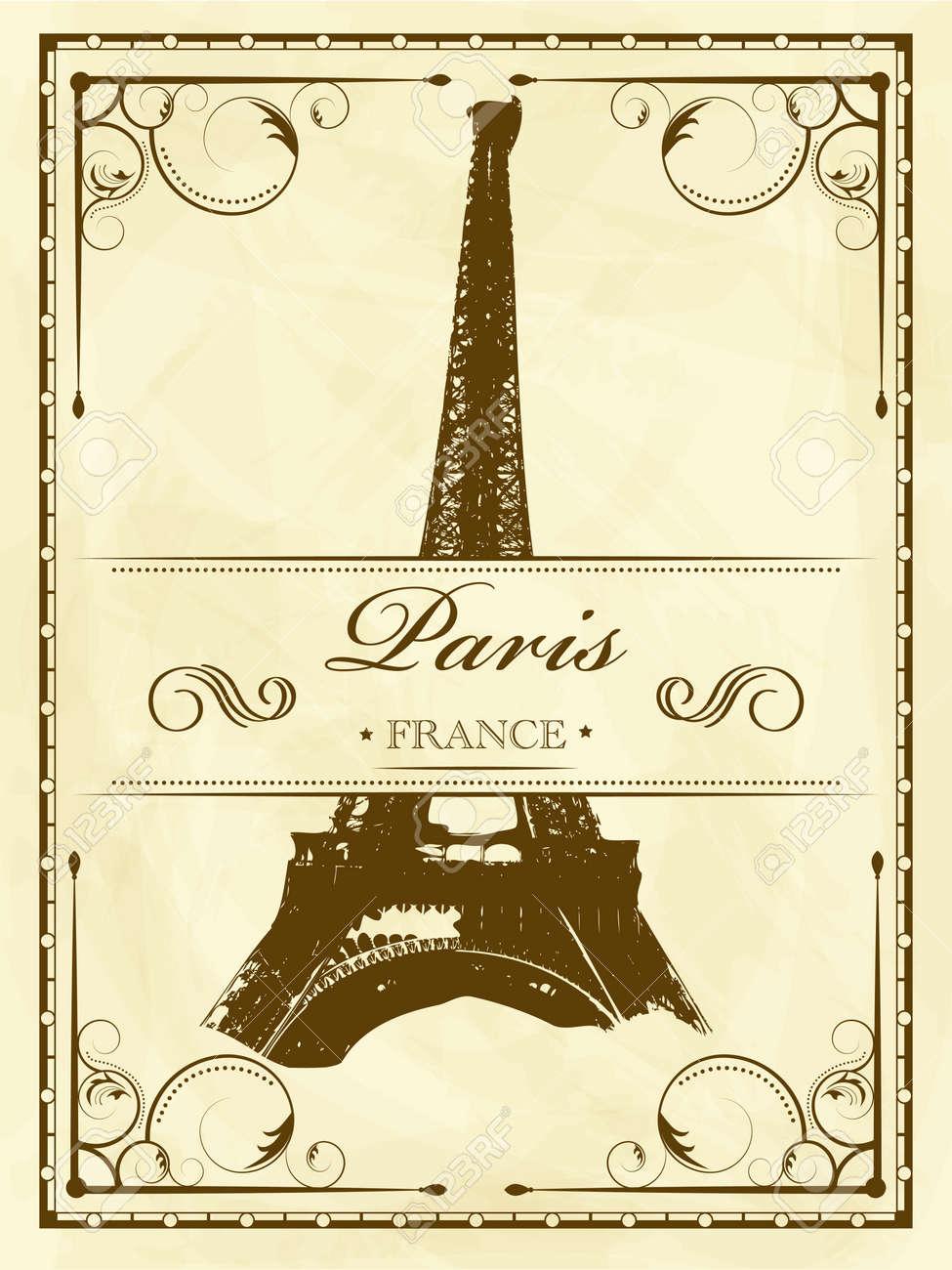 Vector vintage Paris Stock Vector - 11890477
