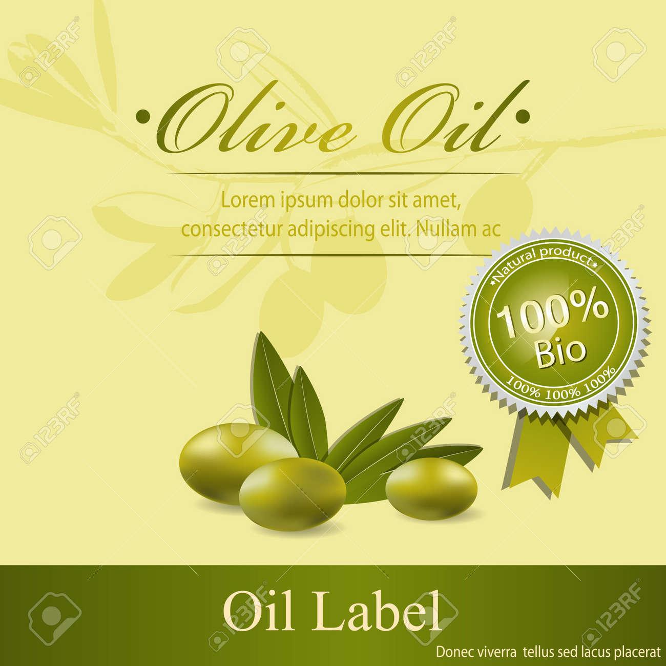 Olive oil label pattern Stock Vector - 12055279