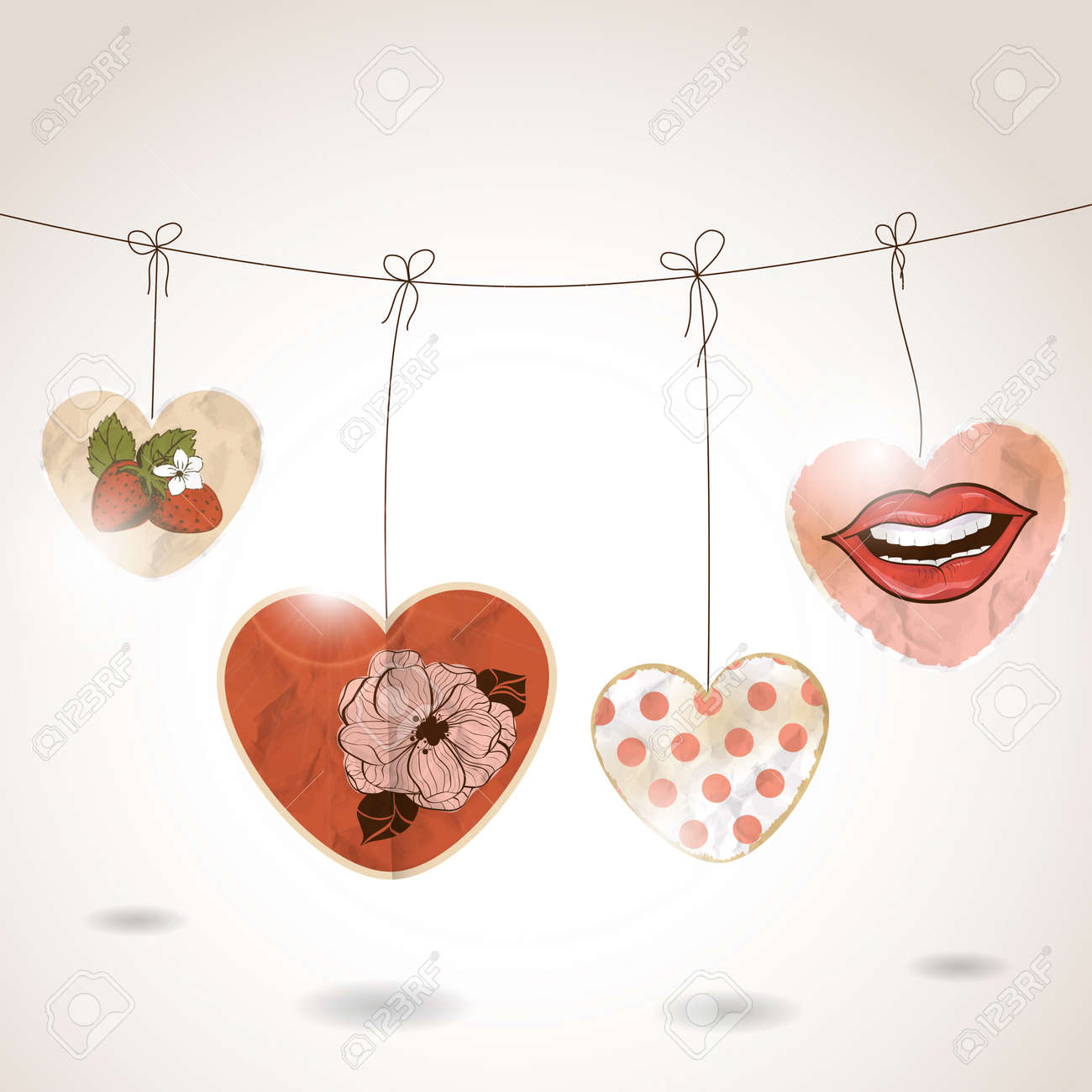 St Valentine's day greeting card Stock Vector - 12406353