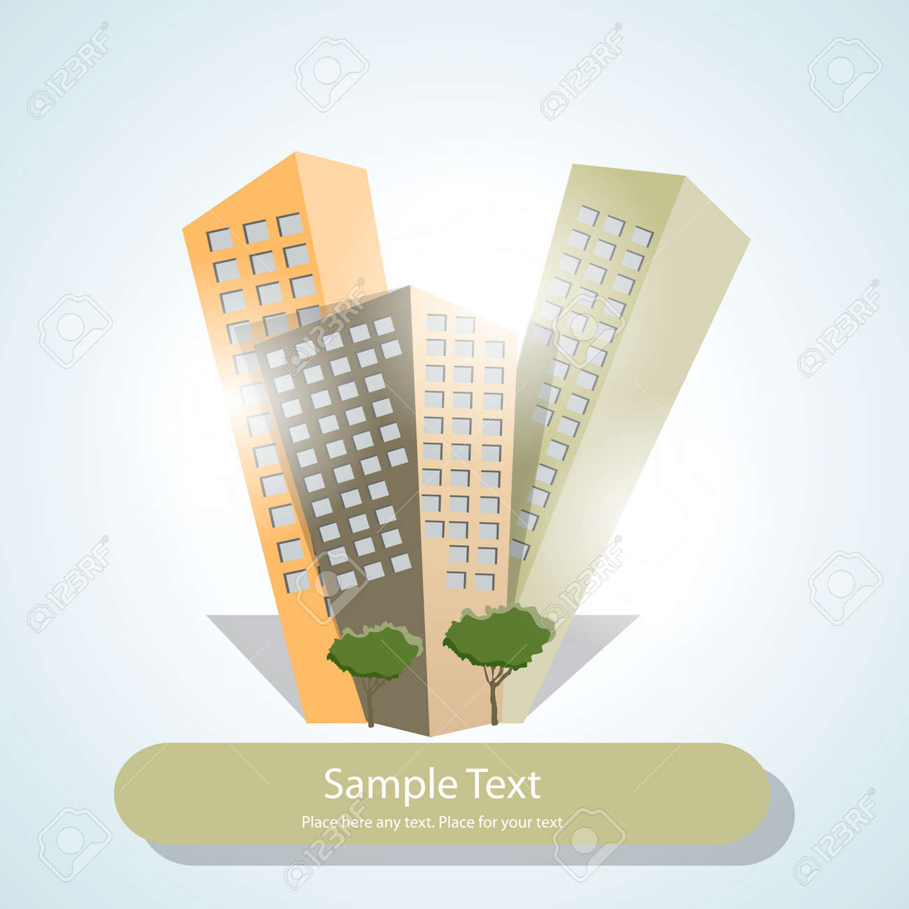 Illustration with skycrapers Stock Vector - 12956660