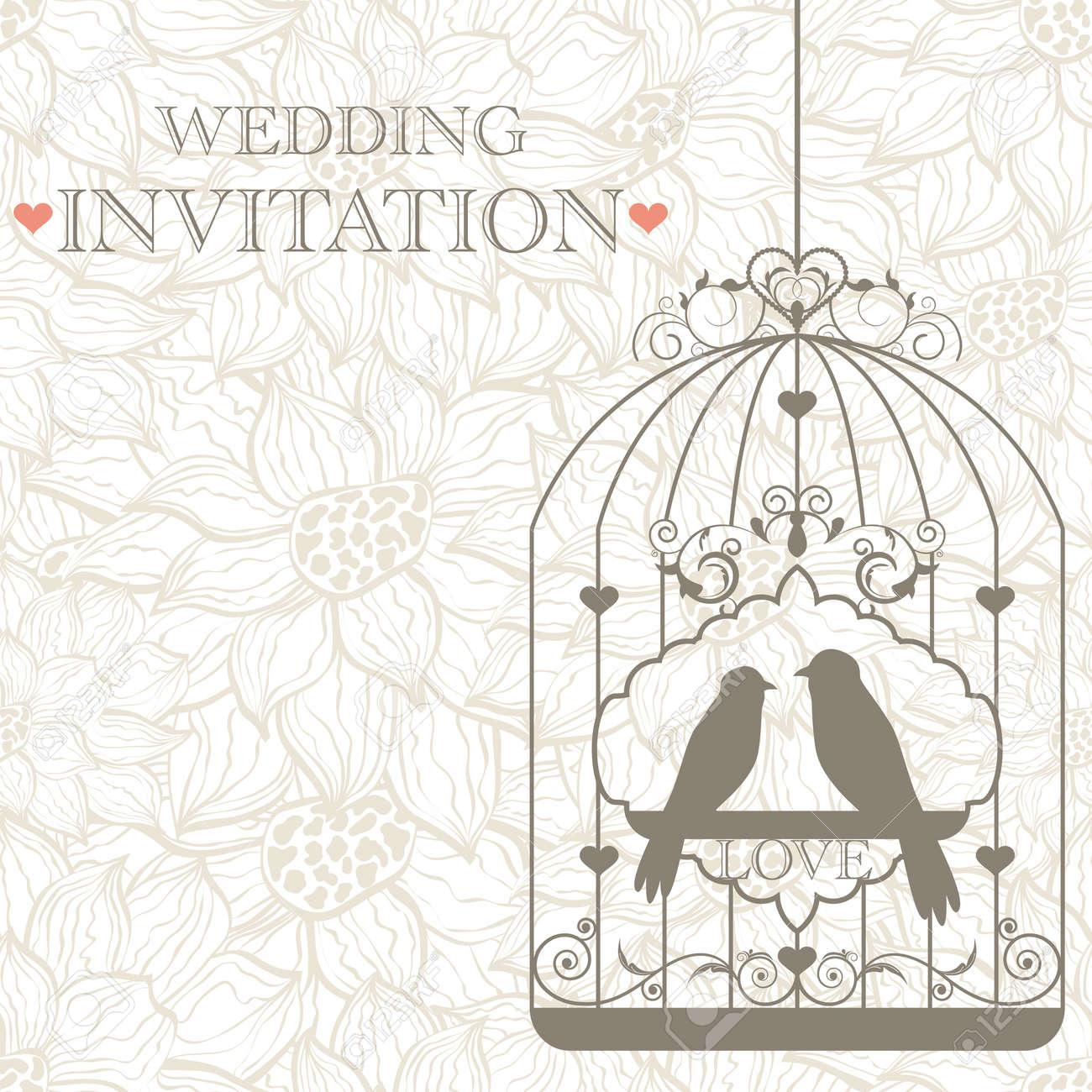 pattern for wedding invitation Stock Vector - 14479136
