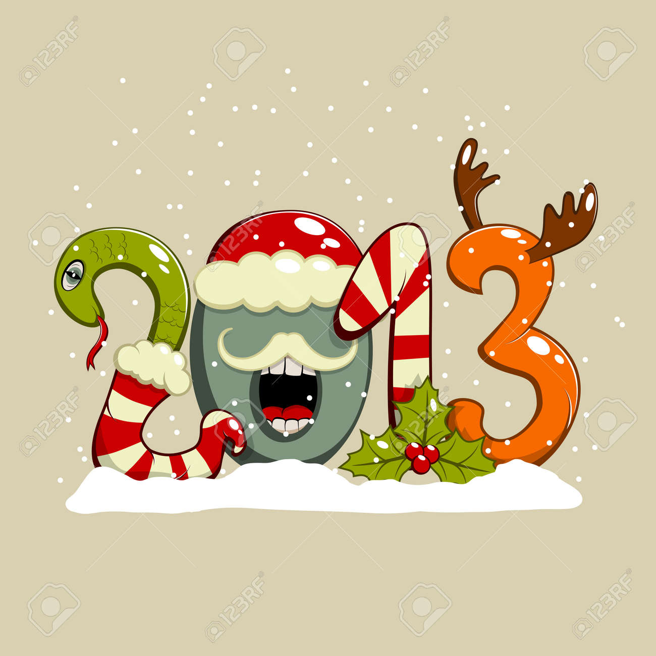 New year 2013 greeting card Stock Vector - 16610497