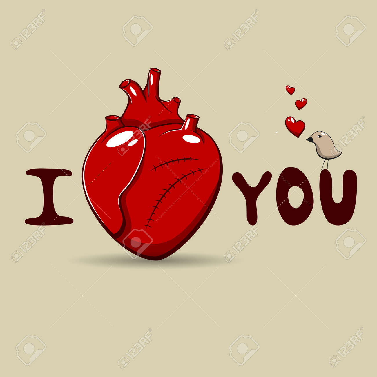 I love you Valentine's day greeting card Stock Vector - 17663571