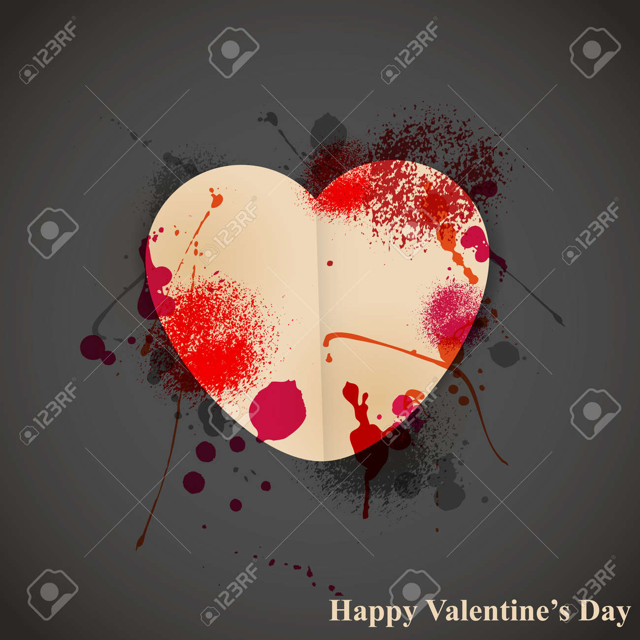 Vector st valentine's day greeting card Stock Vector - 17663587