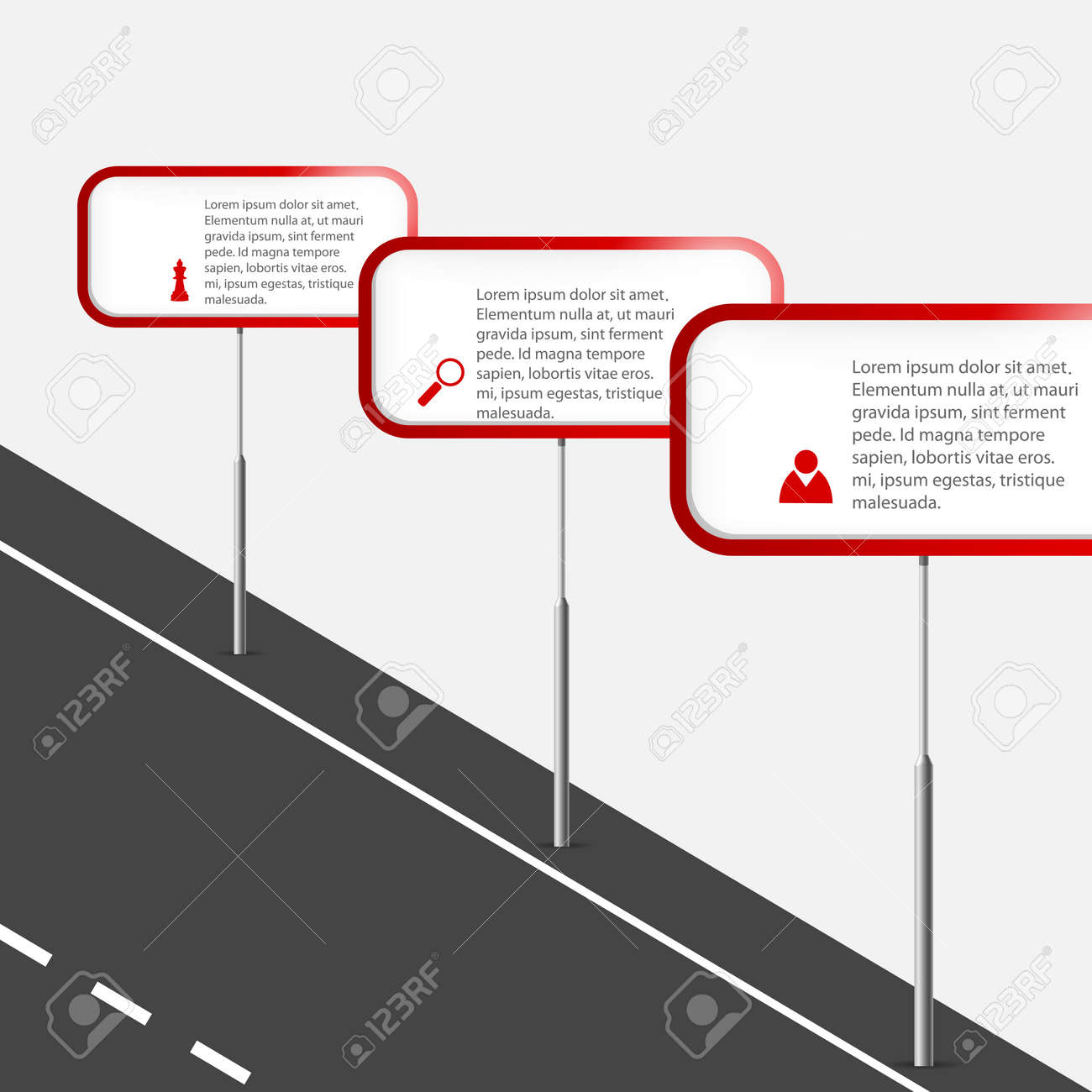 Vector illustration with road signs and copy space Stock Vector - 18540022
