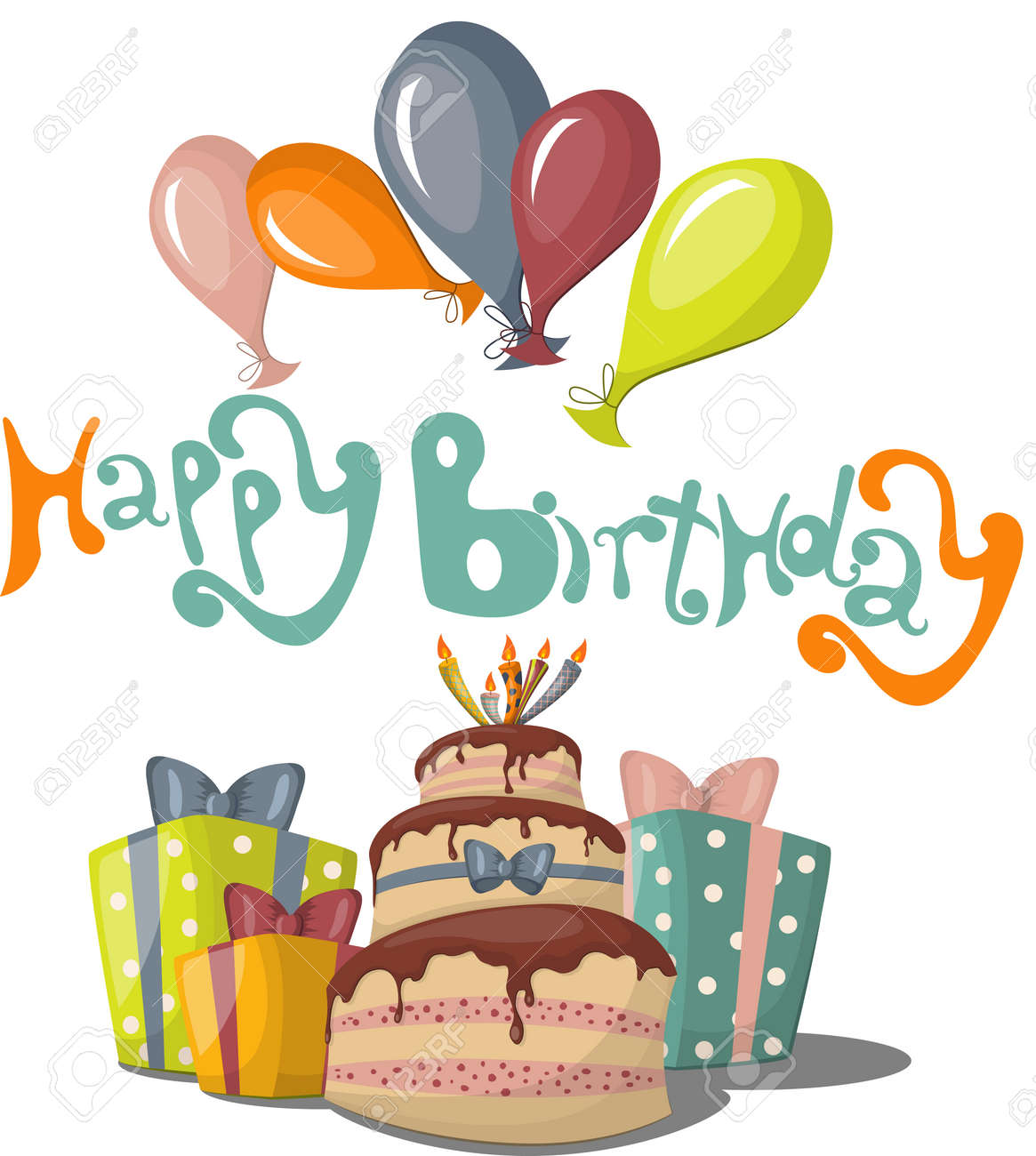Greeting Card With Happy Birthday Text Royalty Free Cliparts – Happy Birthday Text Card