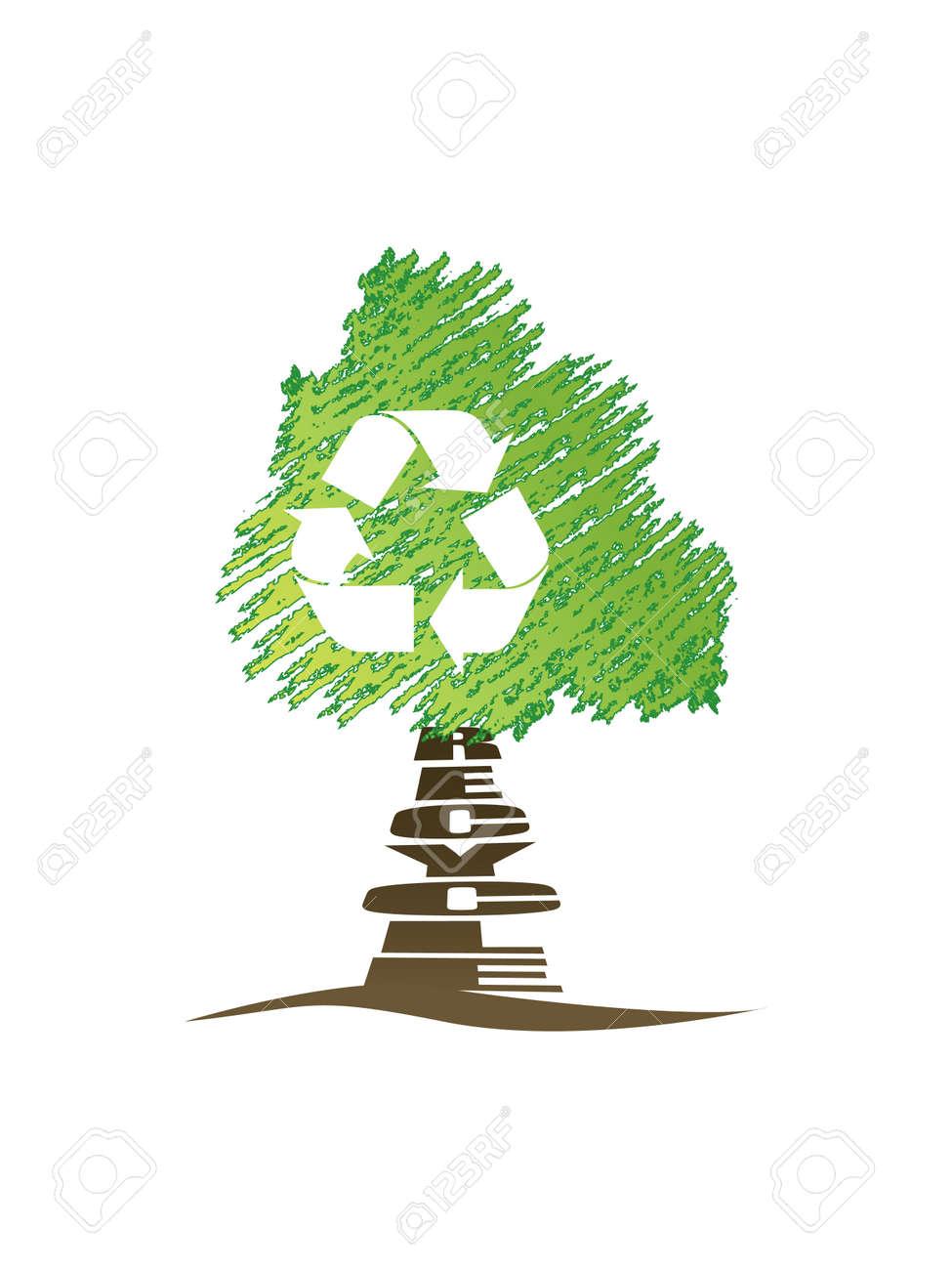 Recycle tree Stock Vector - 3278307
