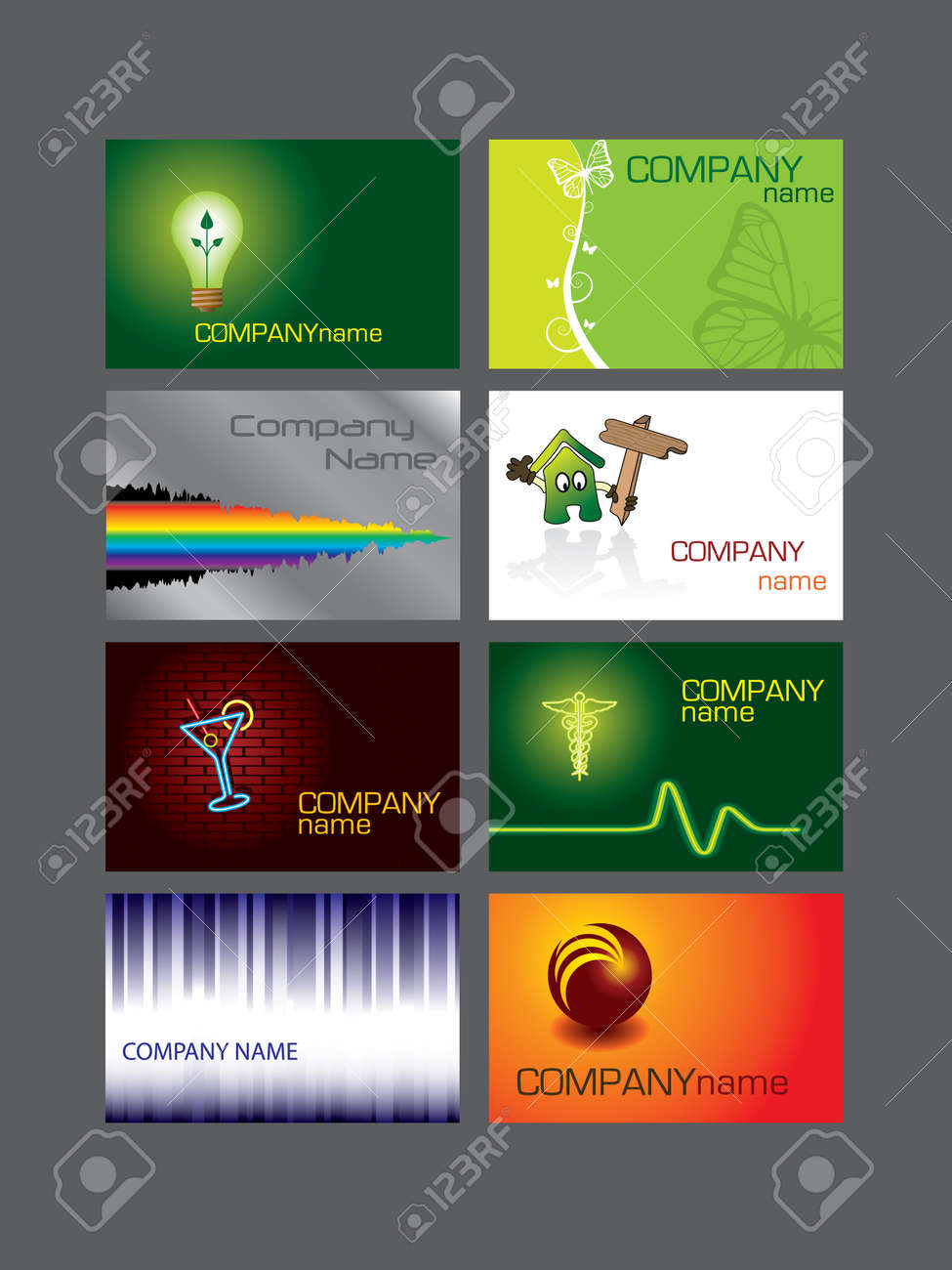 Business card series Stock Vector - 3593879