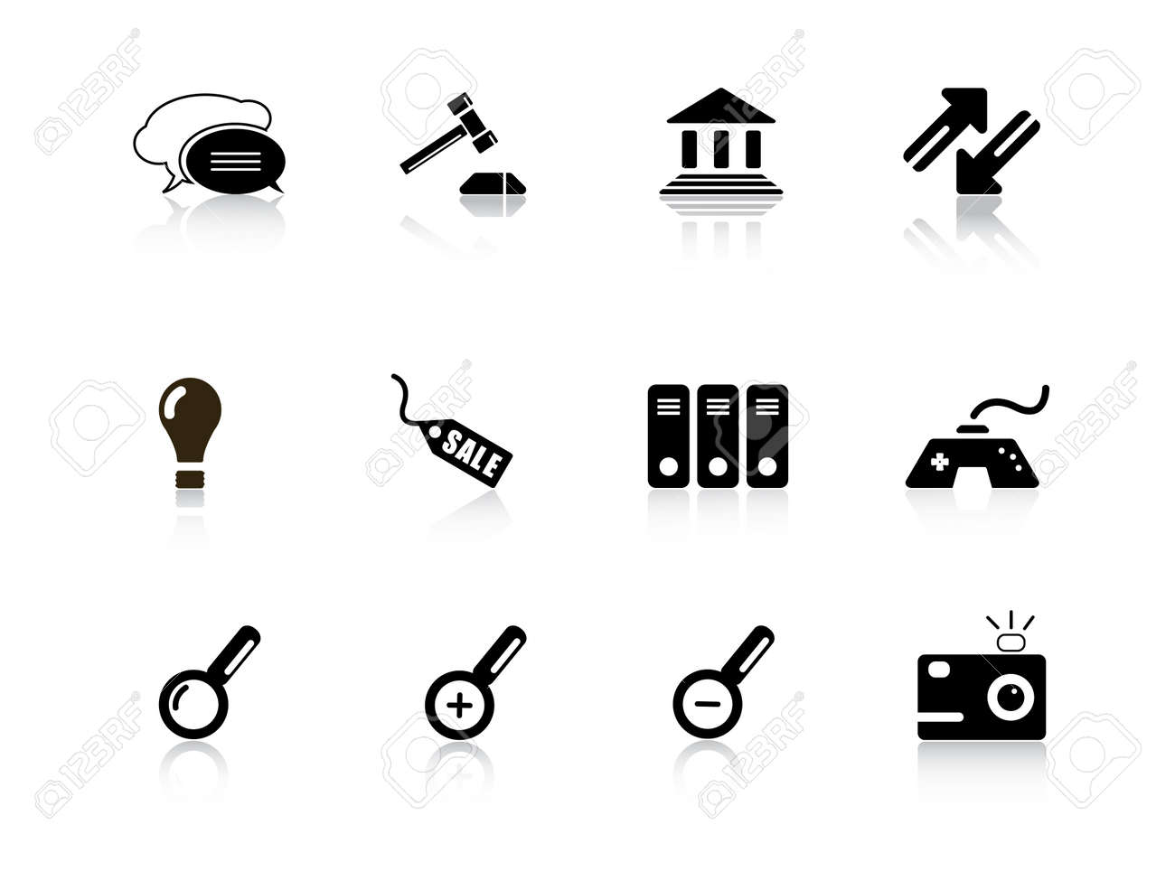 Web icons from series Stock Vector - 3682163