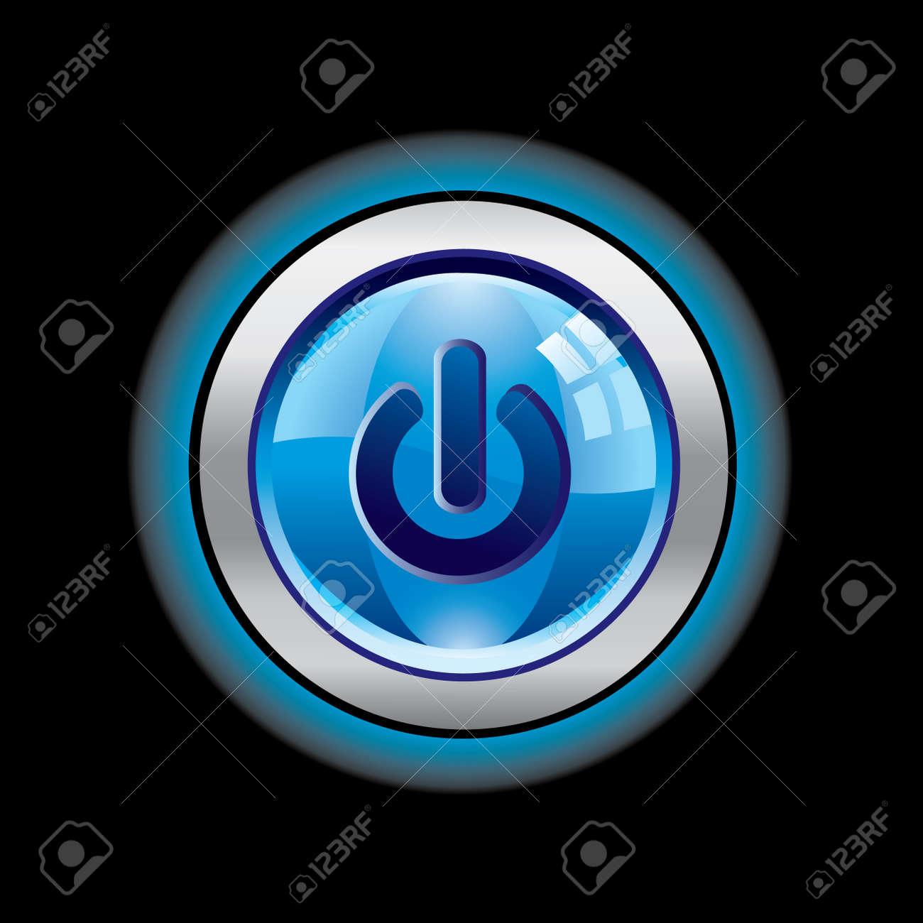 Glass power button Stock Vector - 3699940