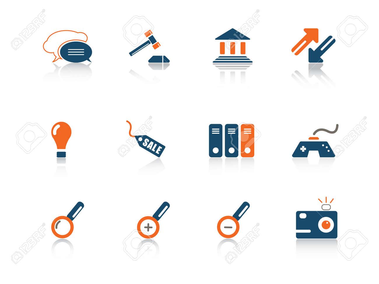 Web icon blue orange series 5 Stock Vector - 3792644