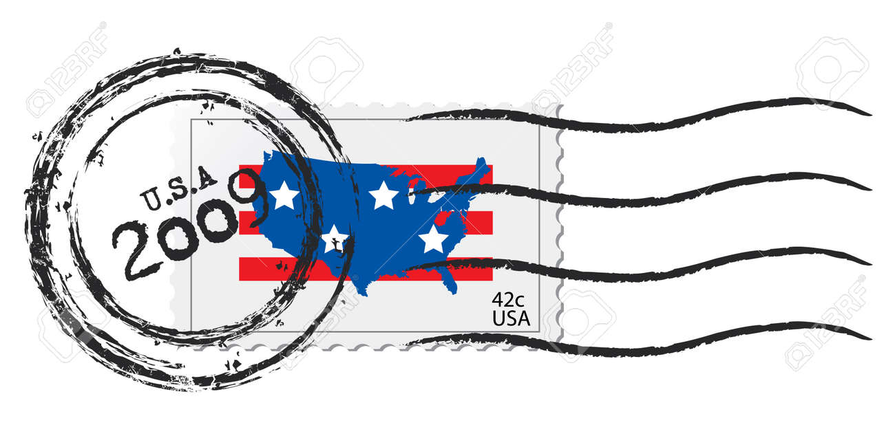 2009 42c USA stamp Stock Vector - 4082821