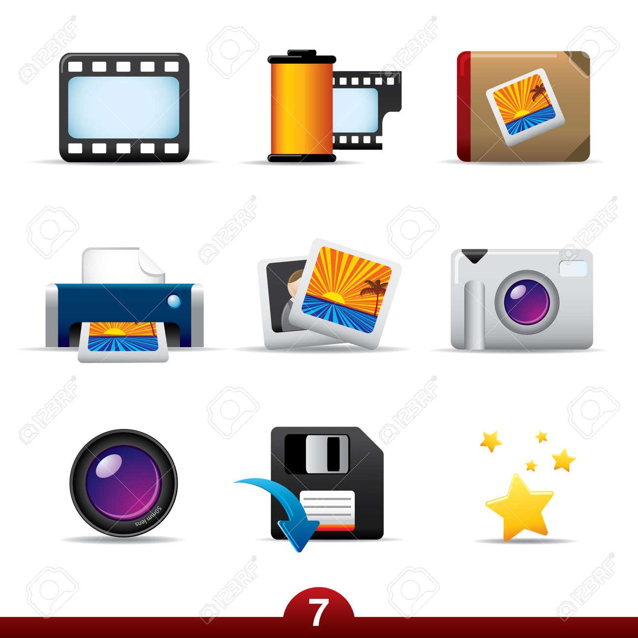 Icon series - photography Stock Vector - 5060434