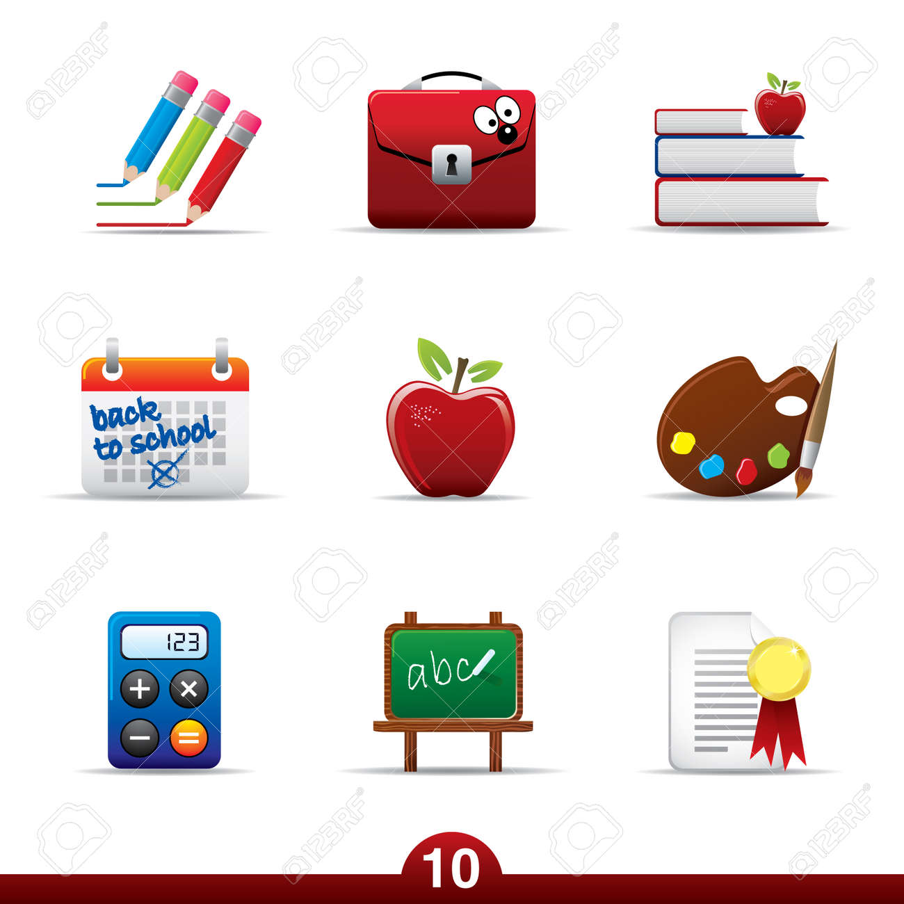 Icon series - education Stock Vector - 5060439