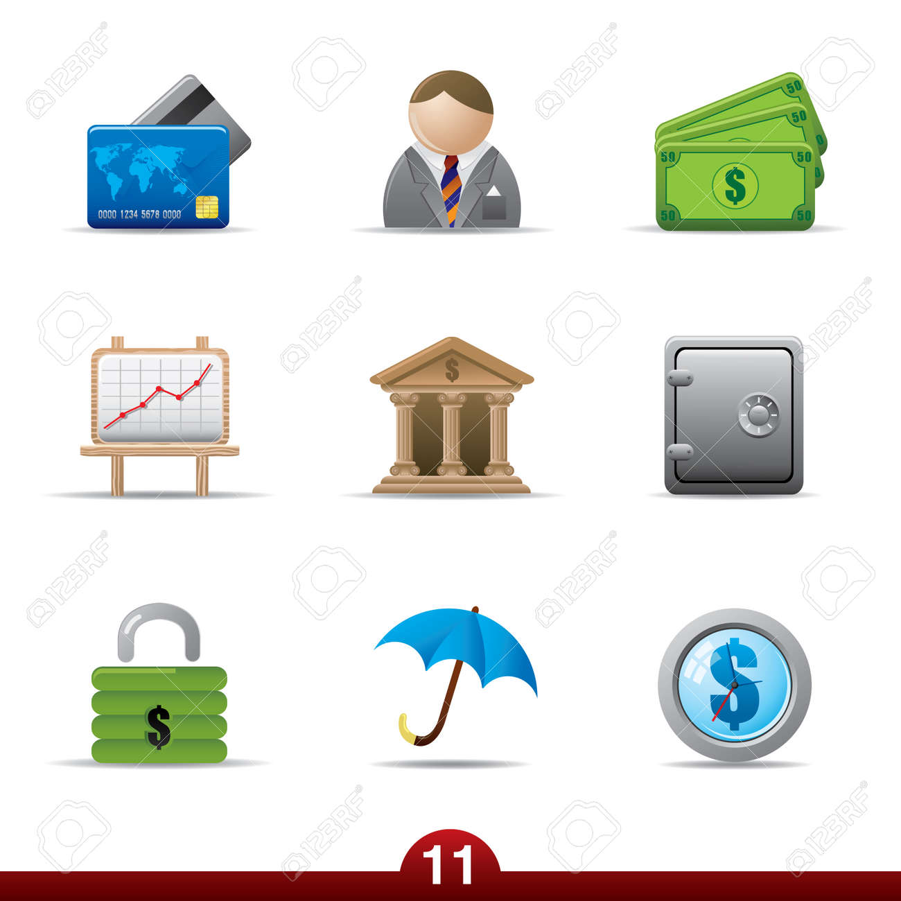 Icon series - finance Stock Vector - 5060440