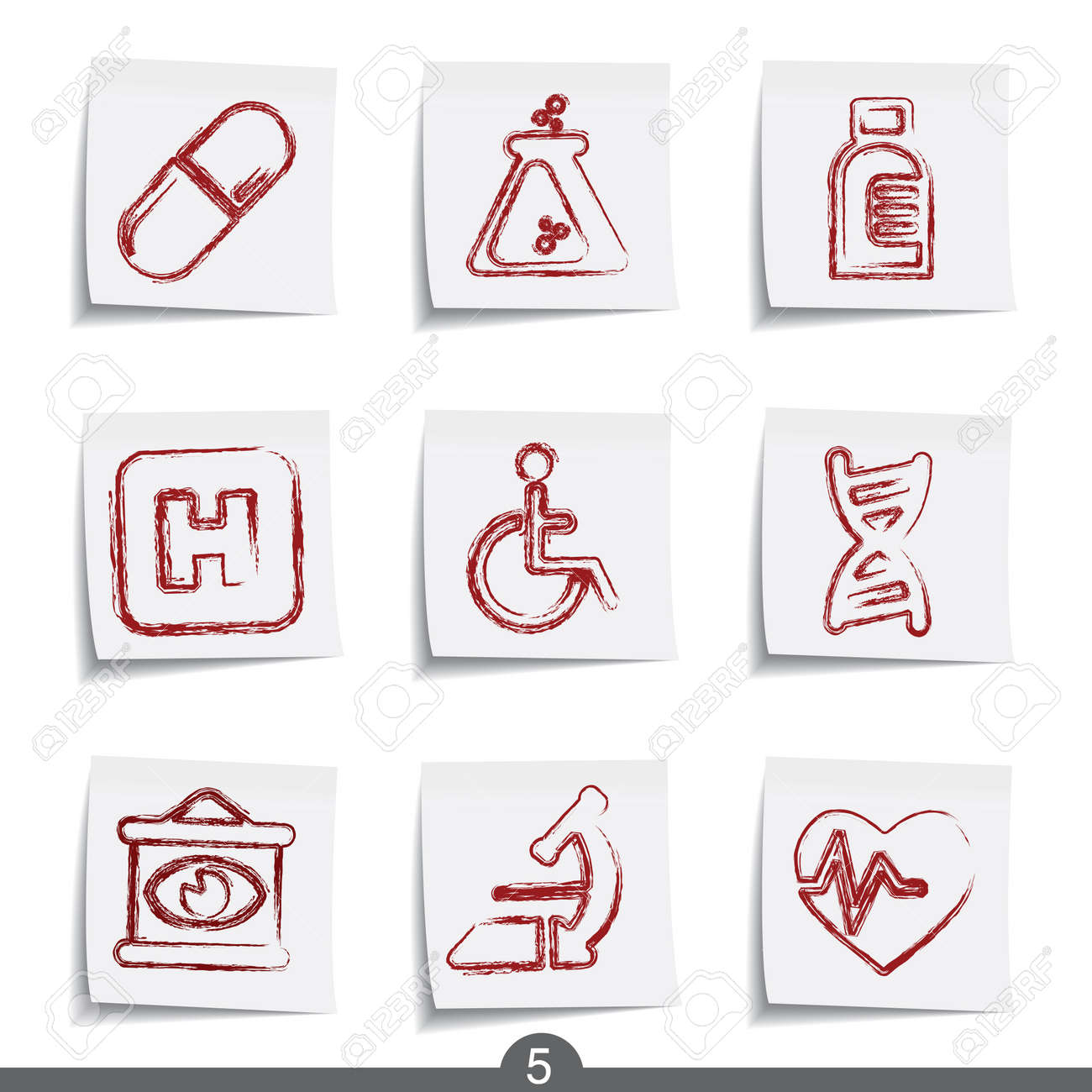 Medical - post it icon series 5 Stock Vector - 6740888