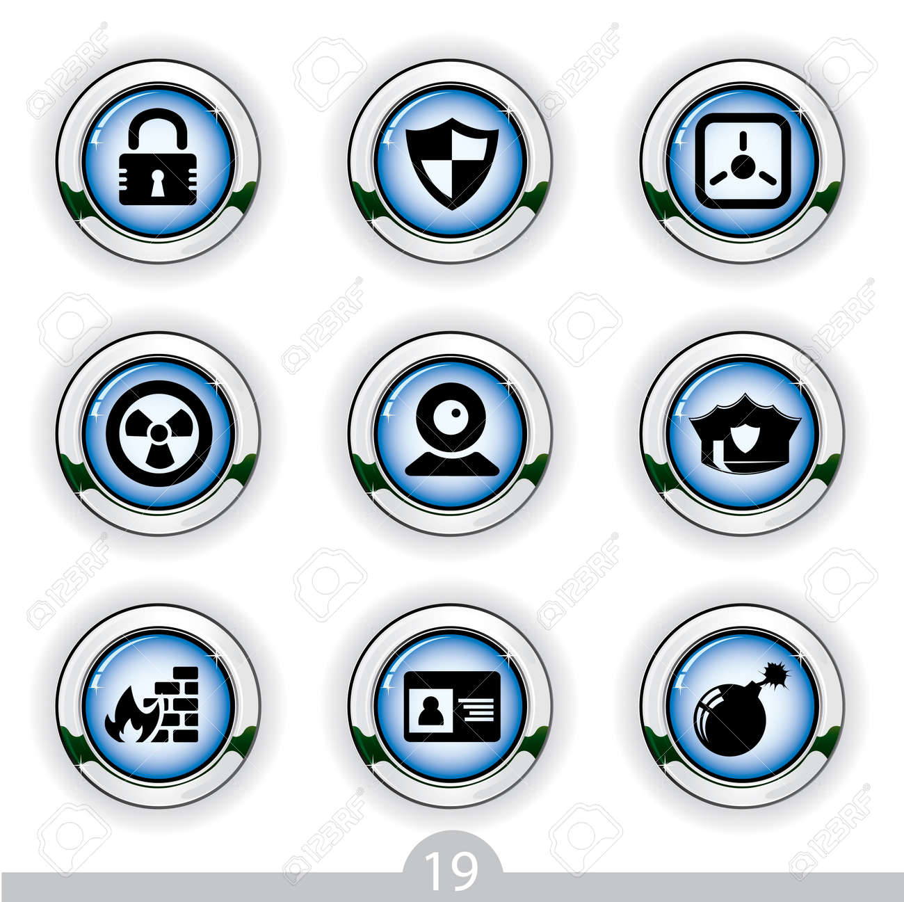 Securtiy icons series no.19 Stock Vector - 7000986