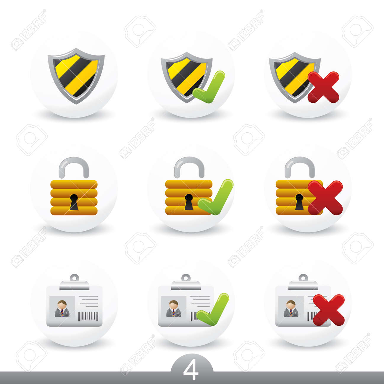 Safety icons...series no.4 Stock Vector - 7000973