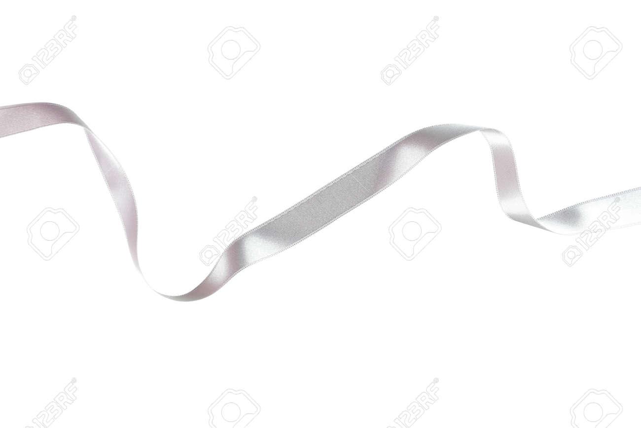 Silver ribbon on white - 67539500