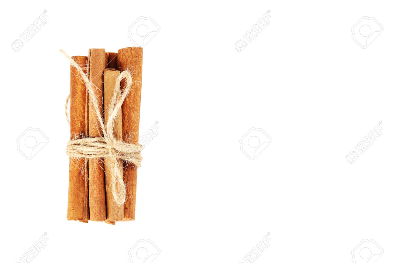 Cinnamon isolated on a white background - 53113163