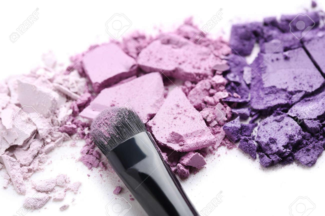 Makeup eyeshadow isolated on white background - 83617664